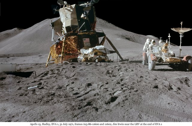 Rover tested on moon (USA)