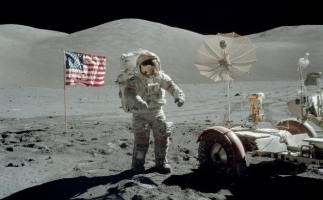 Last walk on the moon for the 20th century (USA)