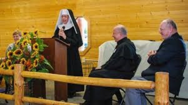 Irene McComack received vows as a novice.