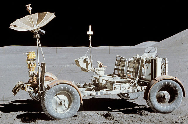 First vehicle to drive on moon!