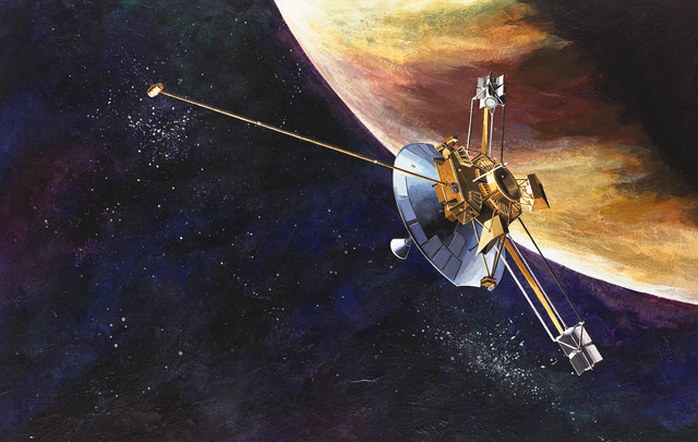 First probe to fly past Jupiter!