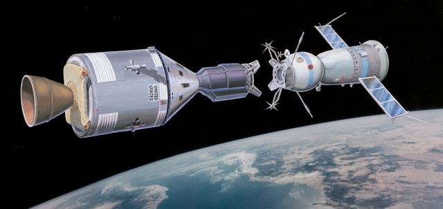 First Docking US/Soviet Spacecrafts!