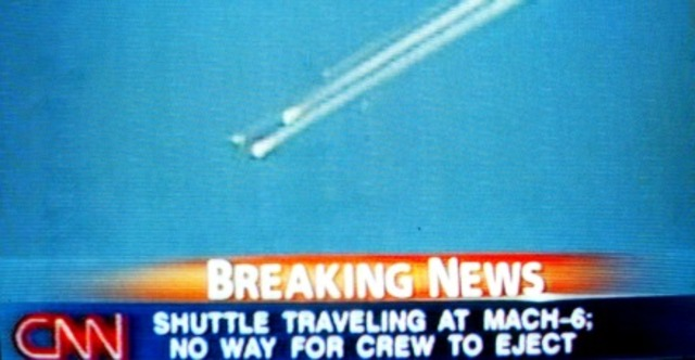 Space shuttle columbia explodes!