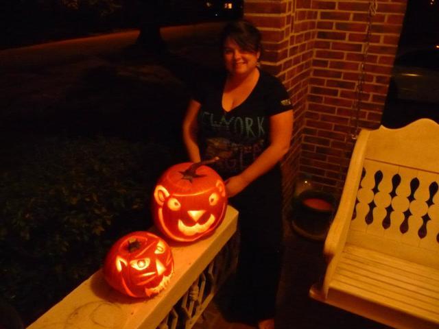 My first self carved pumpkins