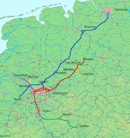 The Cologne-Minden Railway is Completed.