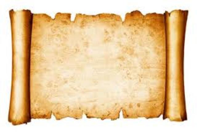 4000 a. C. Utilización del papiro
