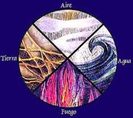 450 a. C. Empedocles y los cuatro elementos primarios