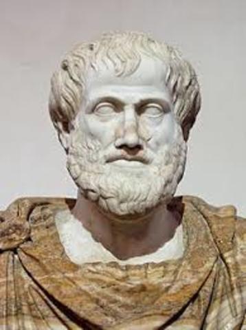 350 a. C. Interpretaciones de la materia, los 5 elementos de Aristóteles.
