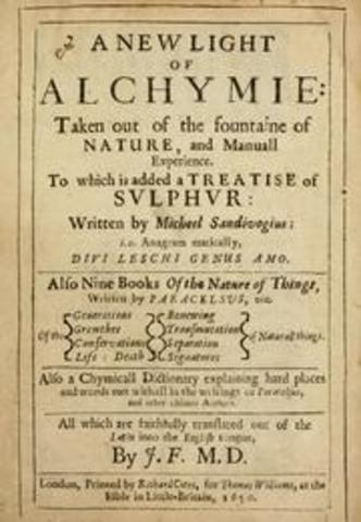 El polaco Michal Sedziwój publica el tratado de alquimia A New Light of Alchemy