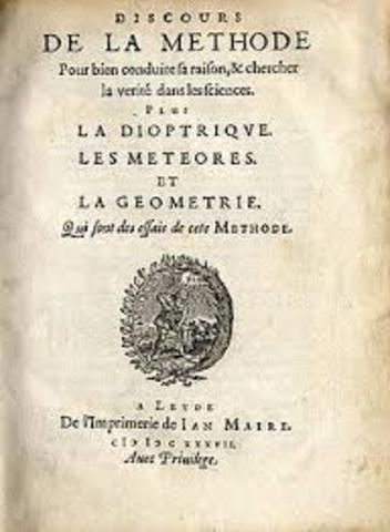 René Descartes publica la obra Discours de la méthode,