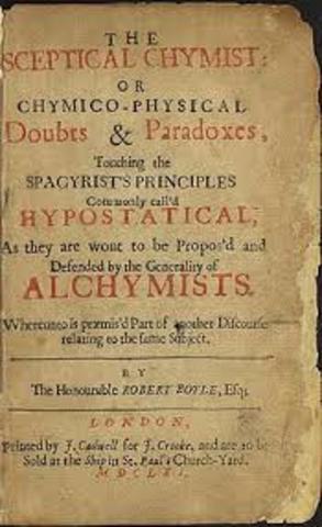 Robert Boyle publica The Sceptical Chymist