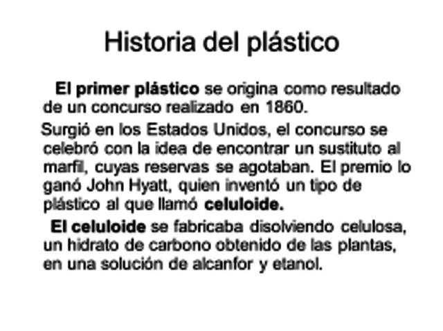 Plástico celuloide,