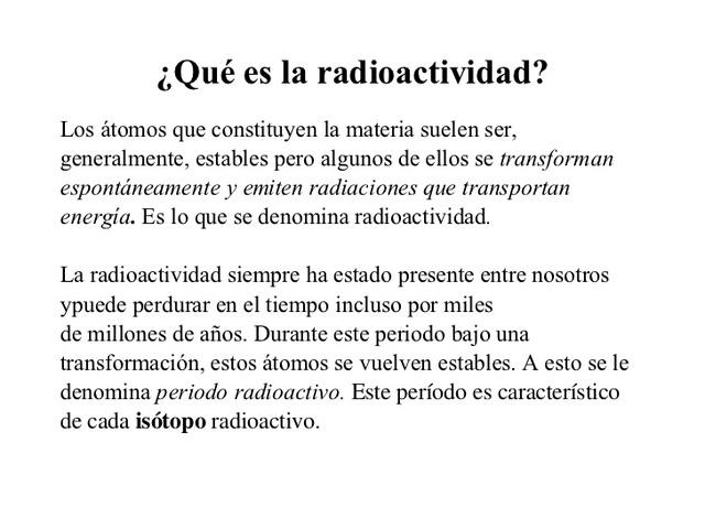 Radioactividad.