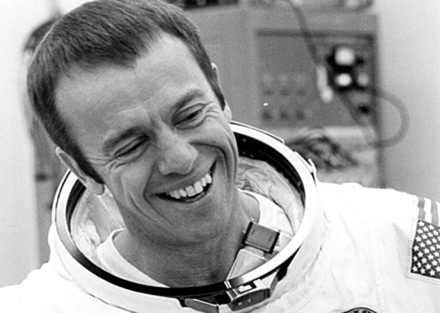 Alan B Shepard becomes the first American man in space