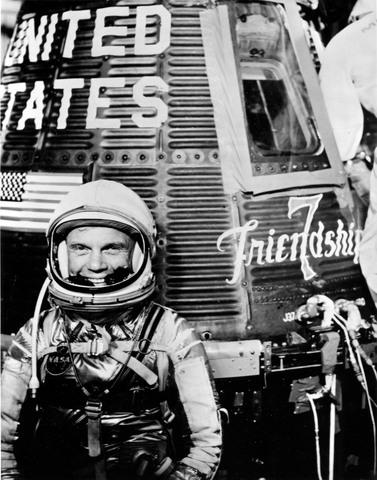 John Glenn orbits the Earth three times