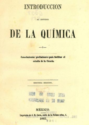 "SE PUBLICA ""INTRODUCCION AL ESTUDIO DE LA QUIMICA"""