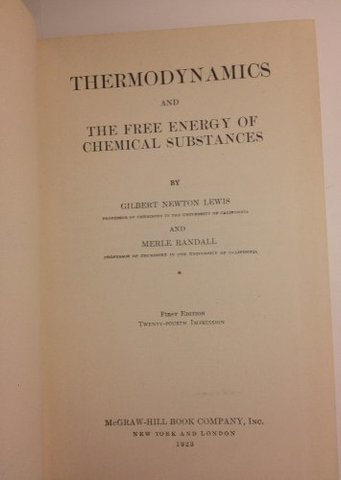 Thermodynamics and the Free Energy of Chemical Substances