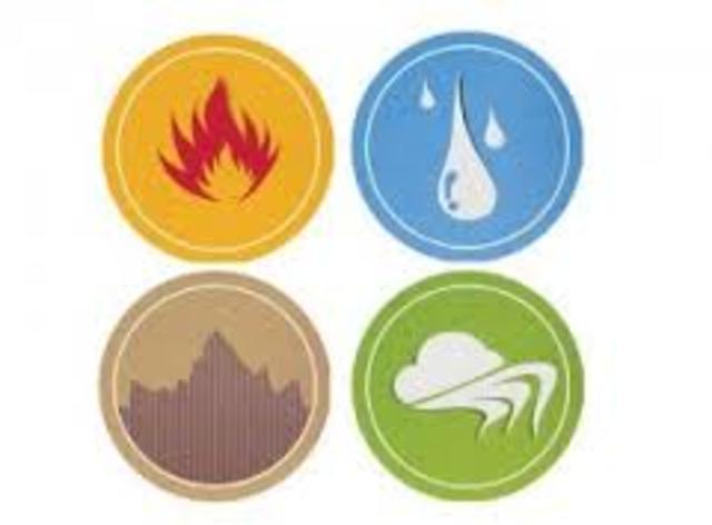 Todas las cosas se componen de cuatro elementos  primarios