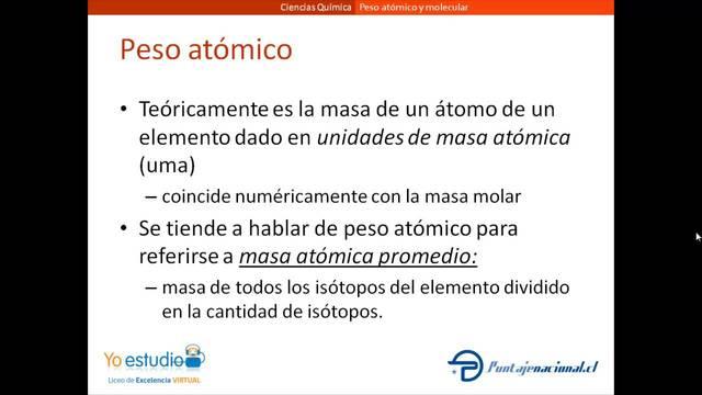 Se incluyen intervalos en los pesos atómicos de 10 elementos.
