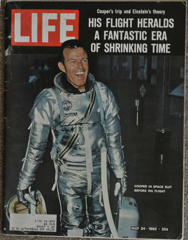 Gordon Cooper spends 34 hours in space