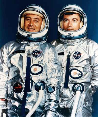 Gus Grissom and John Young fly the first manned Gemini spacecraft