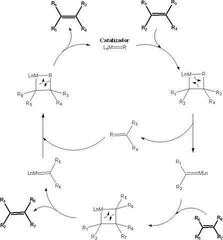 Explicación mecanismo de la Metátesis olefínica