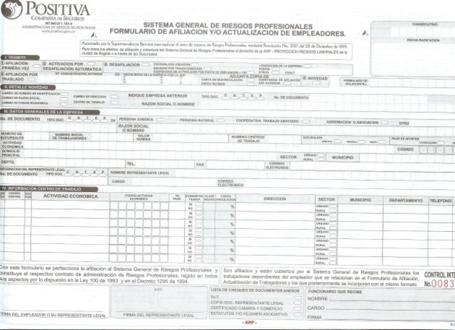 Decreto 1772. Afiliación al Sistema General de Riesgos Profesionales
