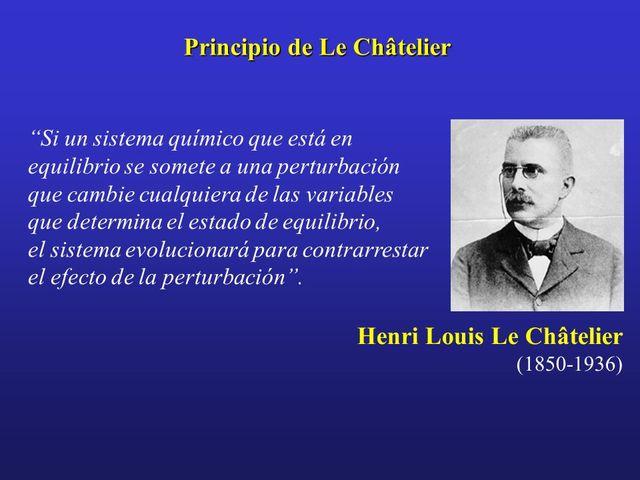 principio de Le Châtelier,