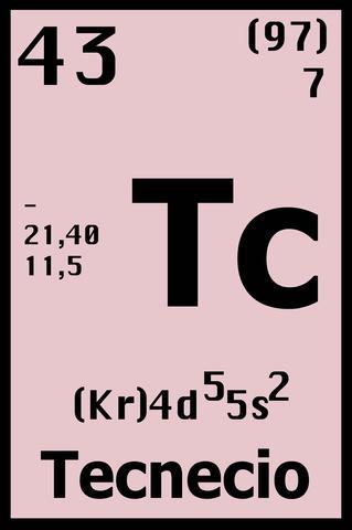 Primera sintesis confirmada de tecnecio-97