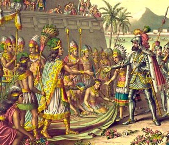 Expedición de Cortés y encuentro con Moctezuma