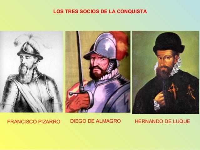Pizarro, Almagro y Luque.