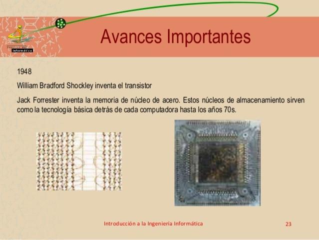 La memoria de núcleo de acero.