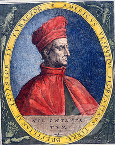 Vespucci sailed along the Atlantic ocean in search of India
