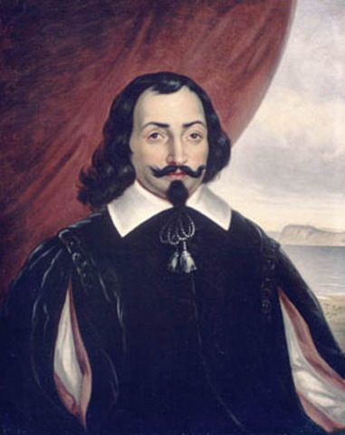 Samuel De Champlain built a fort at Quebec and explored the area North to port Royal, Nova Scotia, and South to Cape Cod