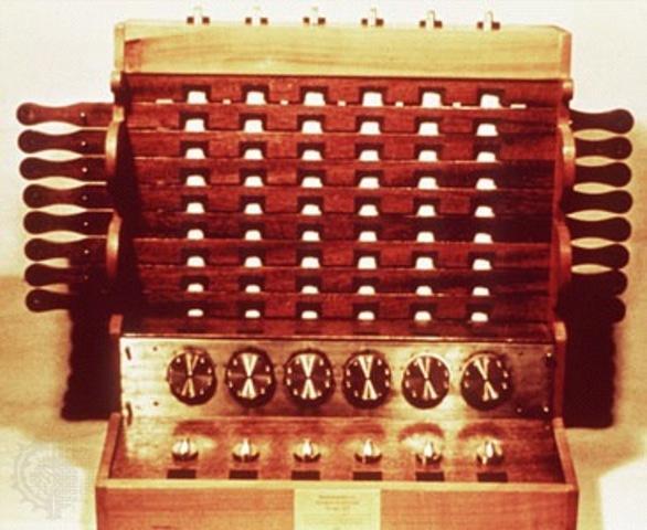 Invención de la calculadora mecánica