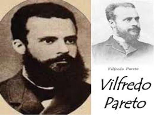 Vilfredo Federico Pareto  1896 -1917