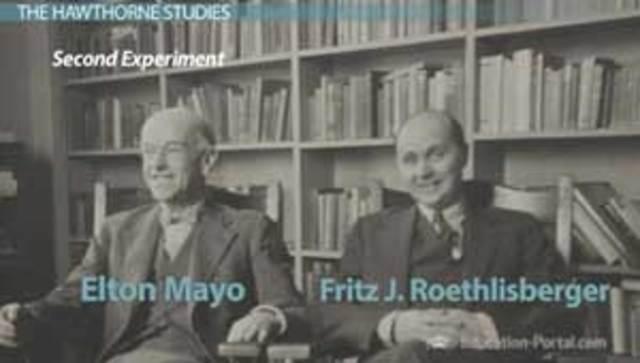 Elton Mayo y F.J. Roethlisberger