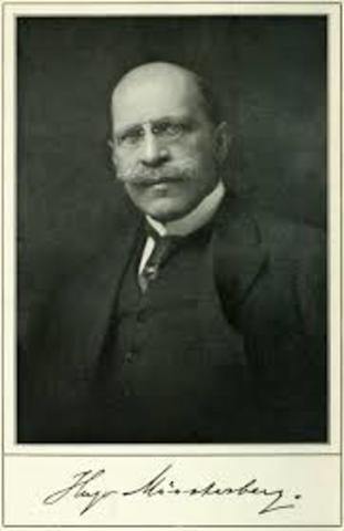 Hugo Münsterberg (Psicología aplicada) (CIENCIAS DEL COMPORTAMIENTO)19 Noviembre 1912