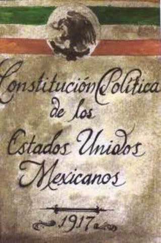 CONSTITUCIÓN MEXICANA DE 1917