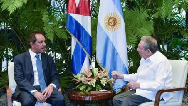 Almuerzo con Raúl Castro en La Habana