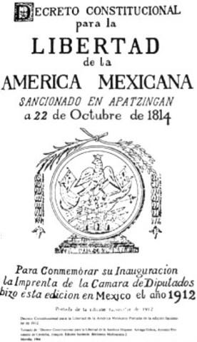 Constitución de Apatzingan 1814