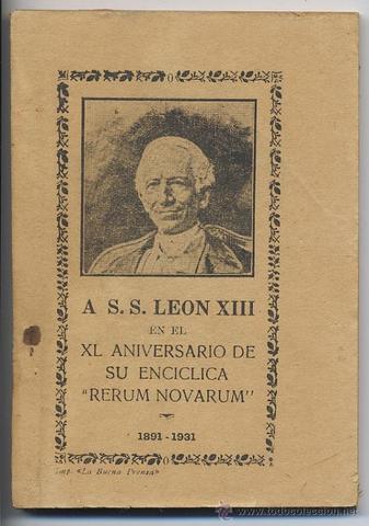 Rerum Novarum 1891 del Papa León XIII