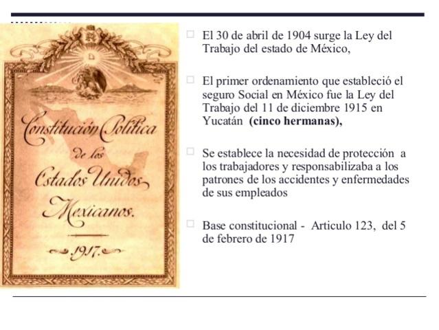 Ley de Accidentes de Trabajo del Estado de México de 1904