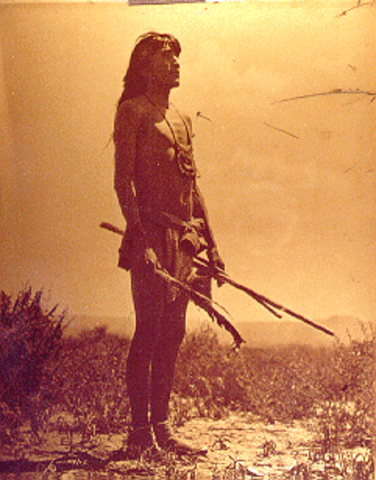 The first meeting of Shoshone indians