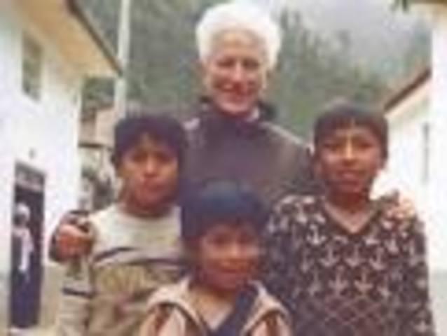 sister Irene left to serve in Huasahuasi