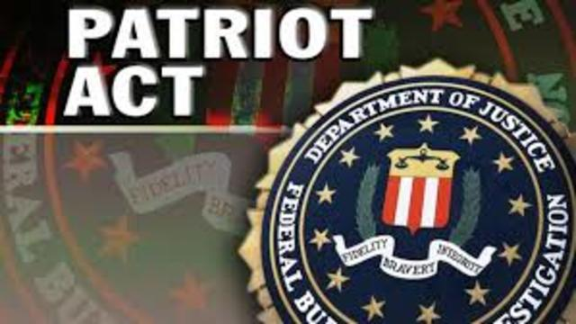 The Patriot Act becomes law.