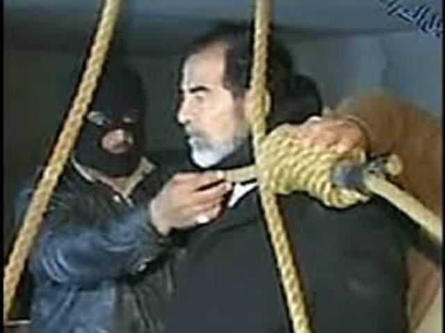 Saddam hangs.