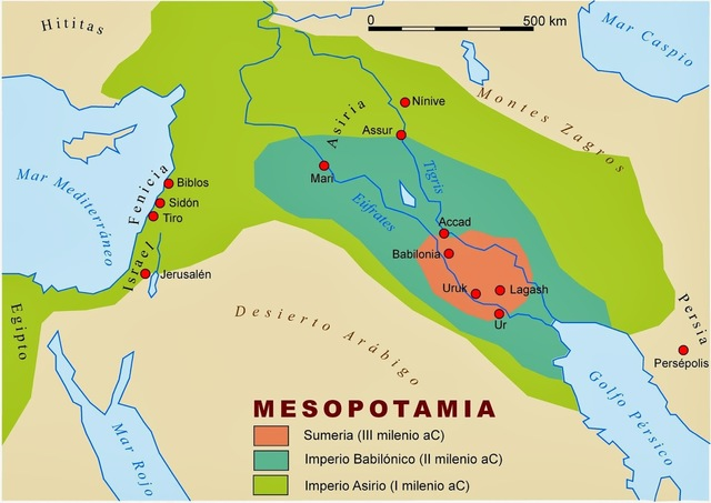 Ubicacion Mesopotamia