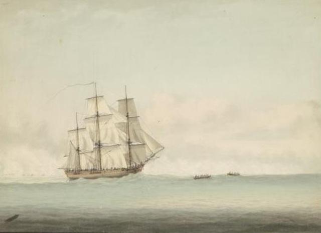 James Cook passes Antarctica