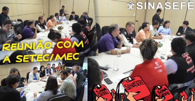 Reunião, sem avanços, entre SINASEFE e Setec/MEC